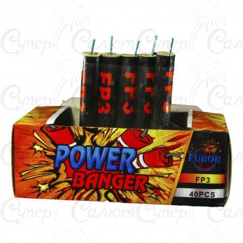 Петарды POWER BANGER Р3000  (FP3) в упаковке 40 штук