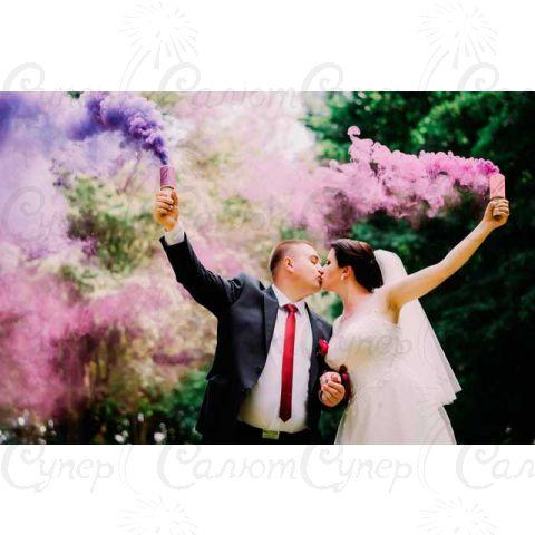 Цветная ручная дымовая шашка Фиолетовый Дым (время работы до 60 сек.)