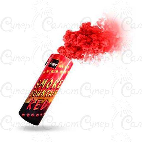 Цветная ручная дымовая шашка Красный Дым (время: 60 секунд, цвет дыма: красный)