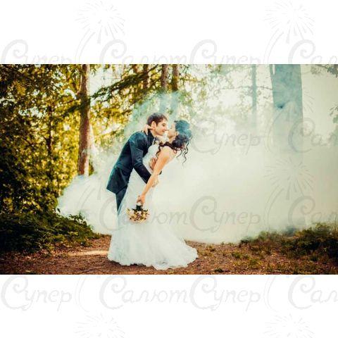 Цветной дым белый (дымный факел)