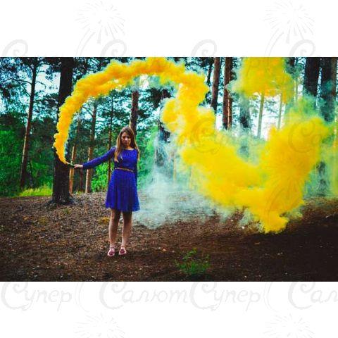 Цветной дым желтый (дымный факел)