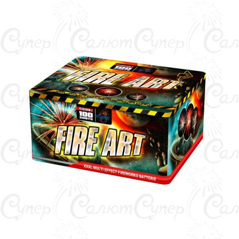 Салютная установка Fire Art 100 зарядов + Веер