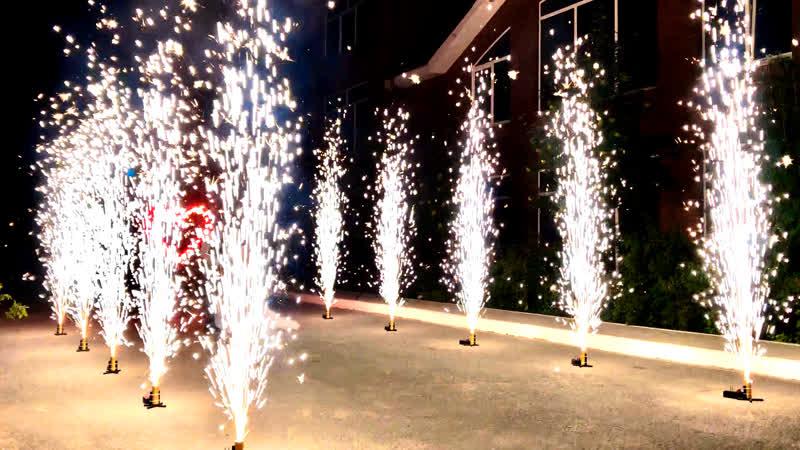 Запуск сценических (холодных) фонтанов в Киеве и Киевской области