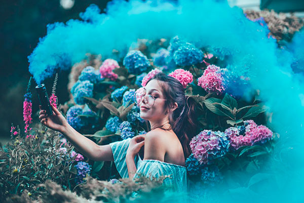 цветной дым для фотосессии картинка 2