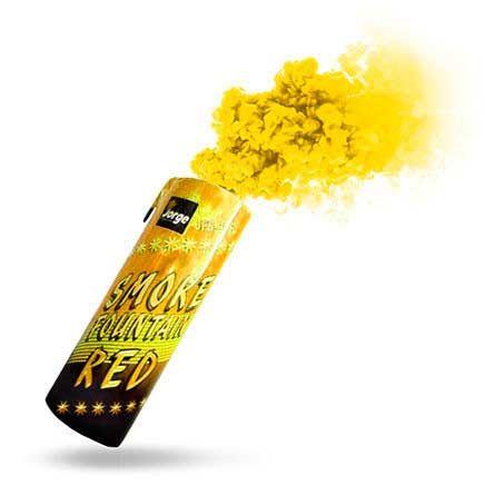 Дымовая шашка желтого цвета фото